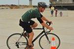 rowerzysta na wyścigu